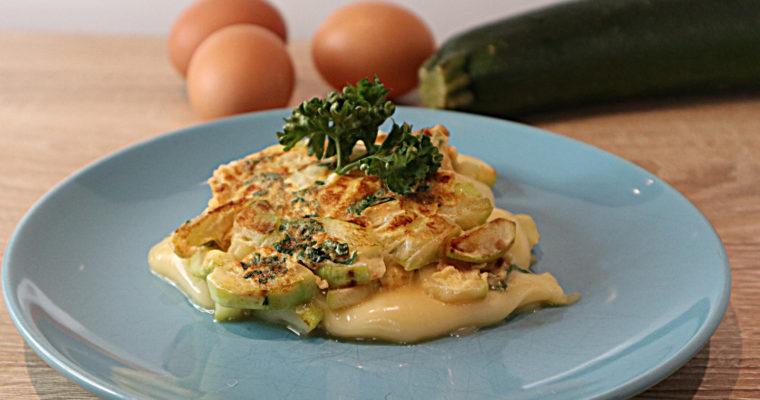 Zucchini-Käse-Omelett