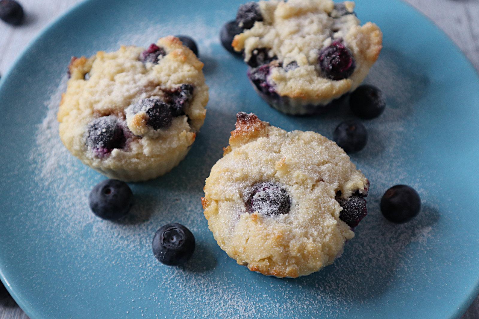 Blaubeer-Muffins mit Kokosmehl
