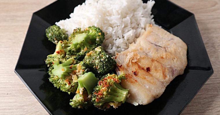 Kabeljau mit Brokkoli und Basmatireis