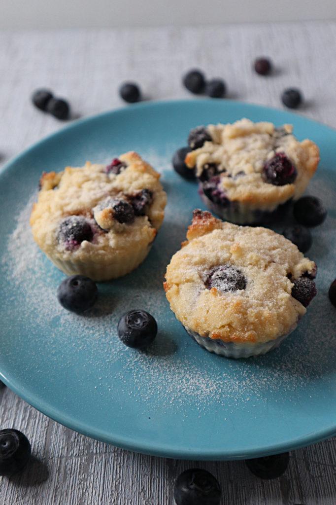 Hier kommt ein total leckeres und schnelles Rezept für Blaubeer-Muffins mit Kokosmehl. Histamin- und fructosearm, auch für Anfänger geeignet!