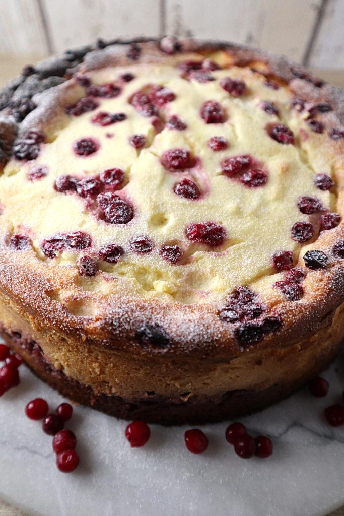 Dieser Preiselbeer-Käsekuchen ist histamin- und fructosearm. Er passt sehr gut zu einer Festtafel an Feiertagen oder Geburtstagen oder auch zwischendurch.