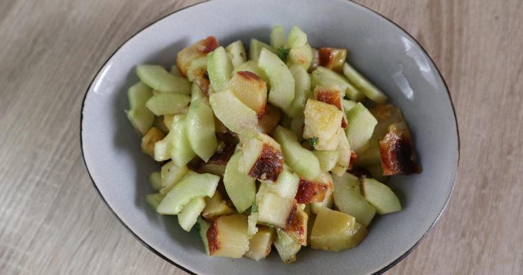 Bratkartoffel-Salat mit Gurke