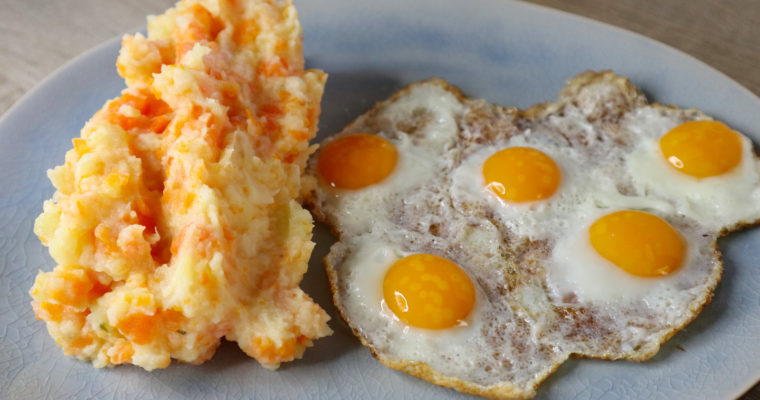 Kartoffel-Karotten-Pastinaken-Stampf