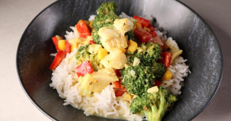 Fisch-Pfanne mit Gemüse