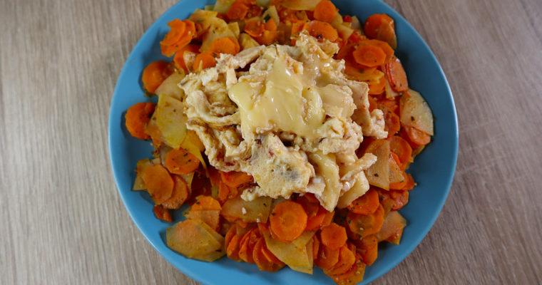 Karotten-Kartoffel-Gemüse mit Rührei