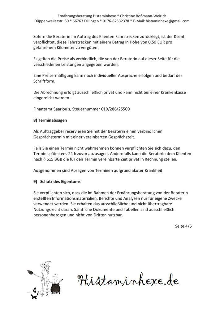 Hier findet ihr den Beratungsvertrag für das Coaching bei Unverträglichkeiten. Dieser wird vor dem Estgespräch vom Klienten unterschrieben.