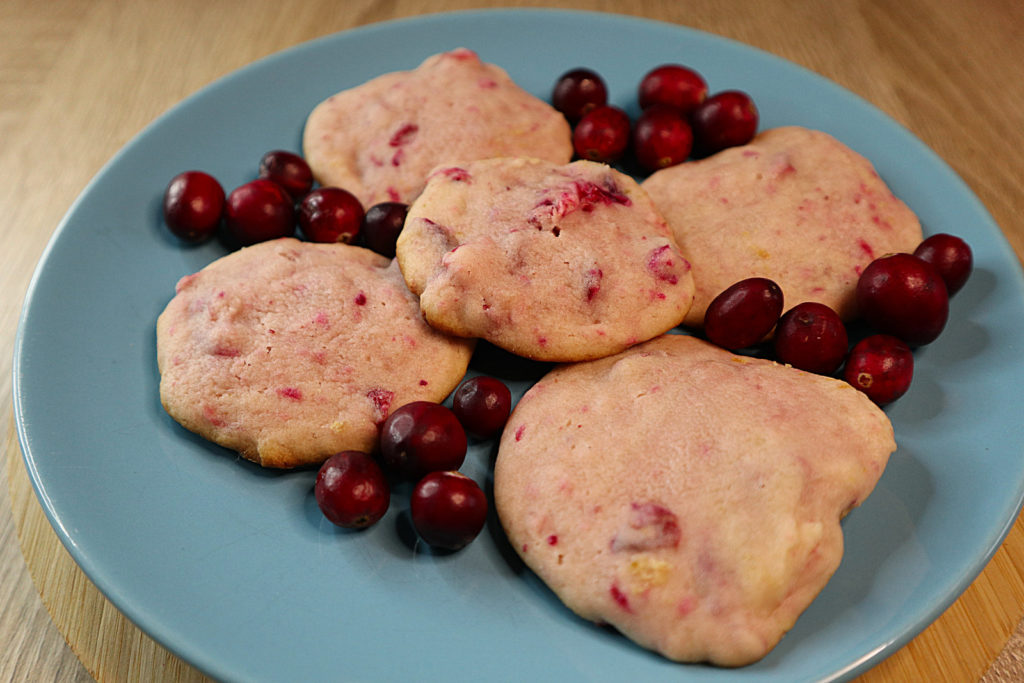 Hier habe ich ein histamin- und fructosearmes Rezept für softe Cranberry-Cookies für euch. Es ist auch mit laktosefreien Produkten machbar.