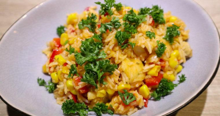 One Pot Reispfanne mit Fisch